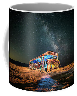 Coffee Mug featuring the photograph Abandoned Bus Under The Milky Way by James Udall