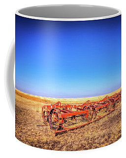 Coffee Mug featuring the photograph Abandoned Farm Equipment by Spencer McDonald