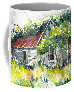 Abandoned Farmhouse In The Ozark Mountains On The Gravel Road To Hawk's Bill Crag At Whitaker Point Coffee Mug