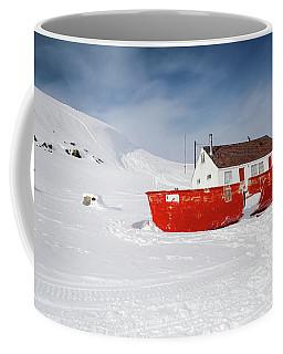 Abandoned Fishing Boat Coffee Mug by Nick Mares