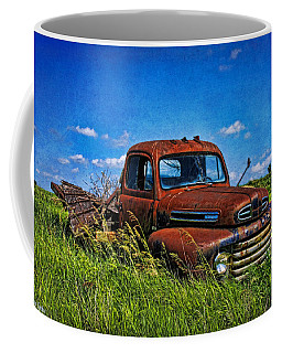 Abandoned Ford Truck In The Prairie Coffee Mug