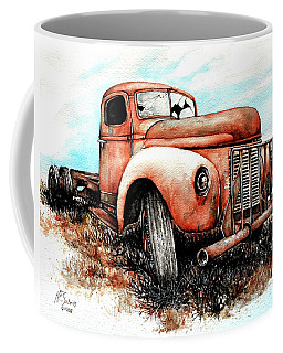 Coffee Mug featuring the painting Abandoned by Heidi Kriel