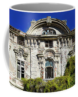 Coffee Mug featuring the photograph Abandoned Liberty Villa With Pigeons - Villa Liberty Abbandonata Con Colombi by Enrico Pelos