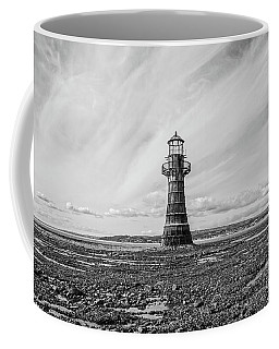 Coffee Mug featuring the photograph Abandoned Light House Whiteford by Edward Fielding