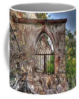 Coffee Mug featuring the photograph Abandoned Places Iron Gate Over The Sea - Cancellata Sul Mare by Enrico Pelos