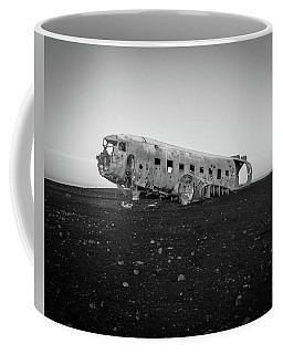 Coffee Mug featuring the photograph Abandoned Plane On Beach by James Udall