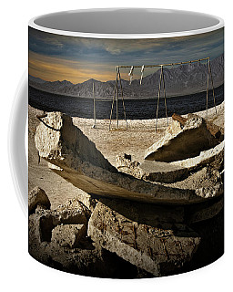 Coffee Mug featuring the photograph Abandoned Ruins On The Eastern Shore Of The Salton Sea by Randall Nyhof