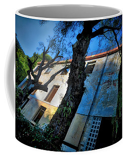Coffee Mug featuring the photograph Abandoned Summer Camp Building - Colonia Abbandonata 3 by Enrico Pelos