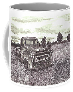 Abandoned Truck At Sunset Coffee Mug