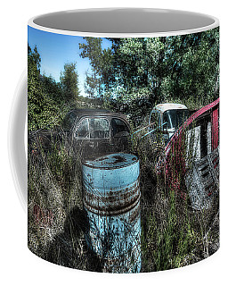 Coffee Mug featuring the photograph Abandoned Vehicles - Veicoli Abbandonati  1 by Enrico Pelos