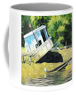 Coffee Mug featuring the digital art Abandoned by Art MacKay