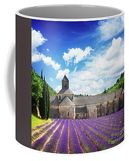 Abbey Senanque And Lavender  Coffee Mug