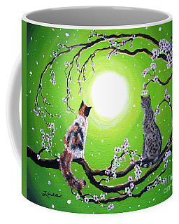 Abby And Caesar In The Spring Coffee Mug by Laura Iverson