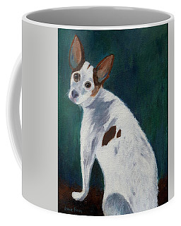 Coffee Mug featuring the painting Abby by Jamie Frier