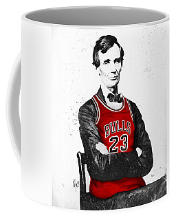 Abe Lincoln In A Bulls Jersey Coffee Mug