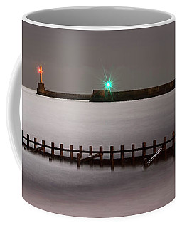 Aberdeen Beach At Night _ Pano Coffee Mug
