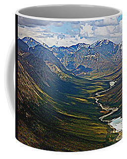 Coffee Mug featuring the painting Above The Arctic Circle by John Haldane