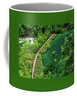 Above The Paths At Plitvice Lakes National Park, Croatia Coffee Mug