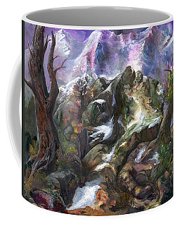 Coffee Mug featuring the painting Above The Timberline by Sherry Shipley