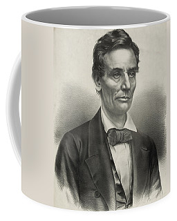 Coffee Mug featuring the photograph Abraham Lincoln - As A Presidential Candidate by International  Images
