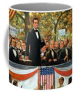 Abraham Lincoln And Stephen A Douglas Debating At Charleston Coffee Mug