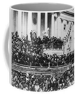 Abraham Lincoln Gives His Second Inaugural Address - March 4 1865 Coffee Mug by International  Images