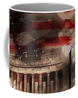 Coffee Mug featuring the painting Abraham Lincoln by Gull G