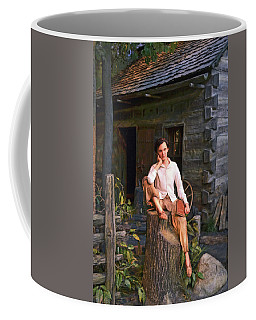 Coffee Mug featuring the photograph Abraham Lincoln Library 001 by George Bostian