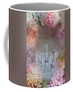 Abraham Lincoln Memorial At Spring Coffee Mug