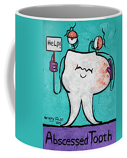 Coffee Mug featuring the painting Abscessed Tooth by Anthony Falbo