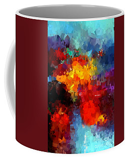 Coffee Mug featuring the digital art Abstract 034 by Rafael Salazar