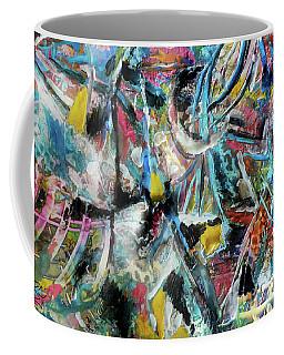 Abstract 301 - Encaustic Coffee Mug