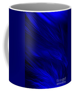 Abstract Art - Feathered Path Blue By Rgiada Coffee Mug