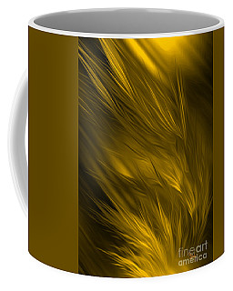 Abstract Art - Feathered Path Gold By Rgiada Coffee Mug