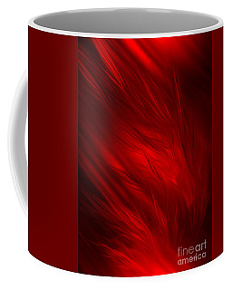Abstract Art - Feathered Path Red By Rgiada Coffee Mug
