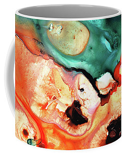 Coffee Mug featuring the painting Abstract Art - Just Say When - Sharon Cummings by Sharon Cummings