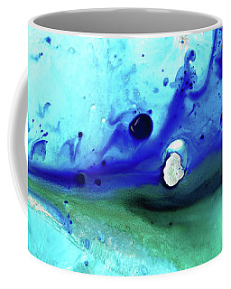 Coffee Mug featuring the painting Abstract Art - Making Waves - Sharon Cummings by Sharon Cummings