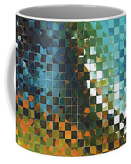 Coffee Mug featuring the painting Abstract Art - Pieces 9 - Sharon Cummings by Sharon Cummings