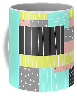 Abstract Art Stripes And Dots Coffee Mug by Ann Powell