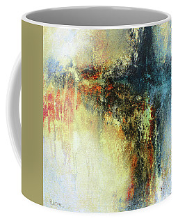 Teals And Warm Tones Abstract Painting Coffee Mug