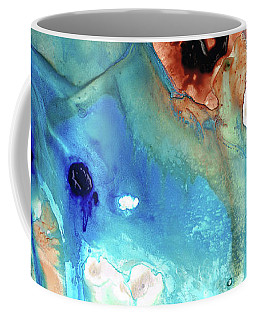 Coffee Mug featuring the painting Abstract Art - The Journey Home - Sharon Cummings by Sharon Cummings