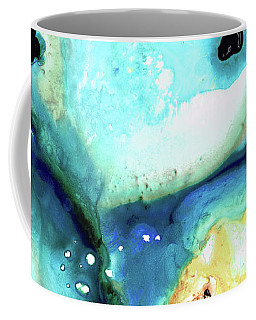 Coffee Mug featuring the painting Abstract Art - Holding On - Sharon Cummings by Sharon Cummings