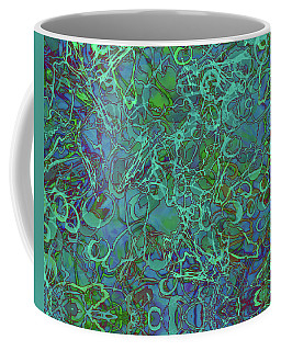 Abstract Azurite Coffee Mug