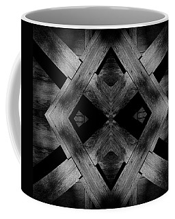 Coffee Mug featuring the photograph Abstract Barn Wood by Chris Berry