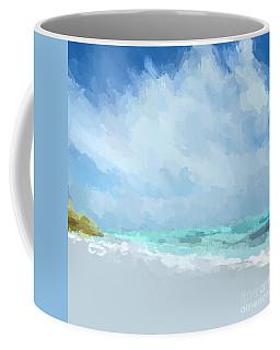Abstract Beach Afternoon  Coffee Mug by Anthony Fishburne