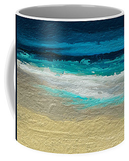 Abstract Beach Coffee Mug by Anthony Fishburne