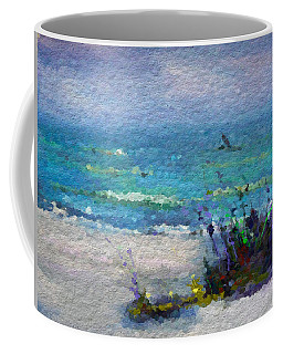 Abstract Beach Pastel Summer Coffee Mug by Anthony Fishburne