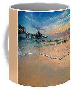 Abstract Beach Walk Coffee Mug by Anthony Fishburne