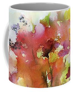 Abstract Bird Migration Autumn Tree Tops Coffee Mug