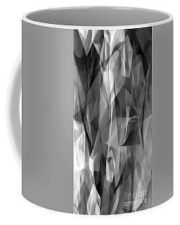 Coffee Mug featuring the digital art Abstract Black And White Symphony by Rafael Salazar